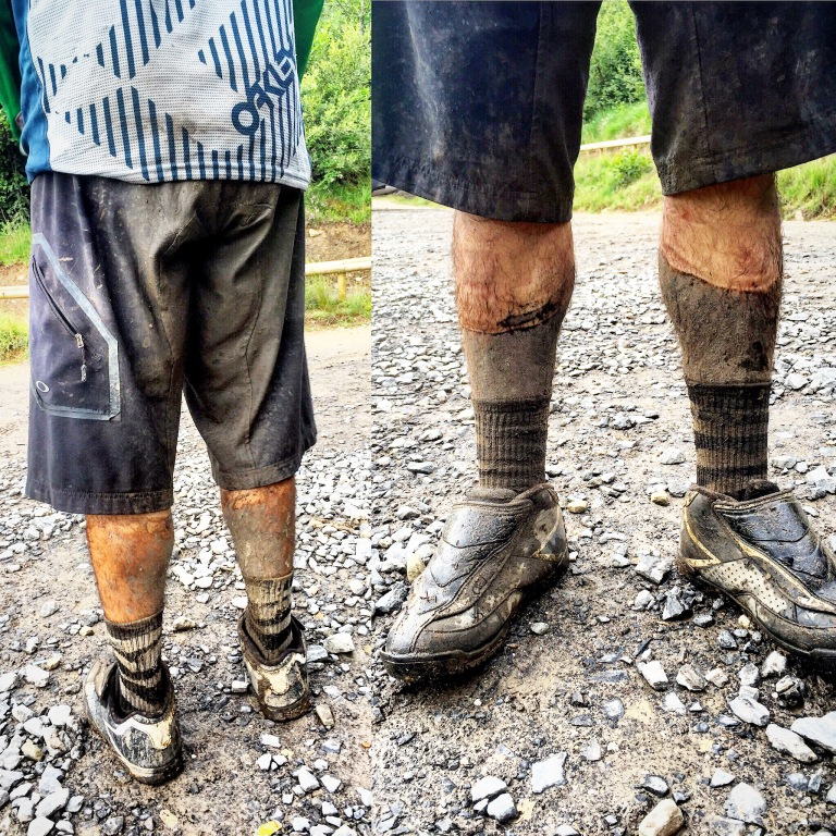 New to Carlos: cold, wet soggy, muddy shorts.